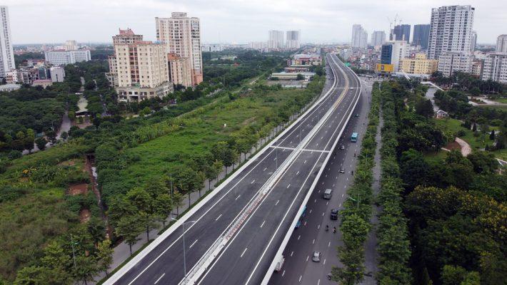 Chính thức thông xe tuyến đường vành đai 3 trên cao của Hà Nội đoạn Mai Dịch-Nam Thăng Long