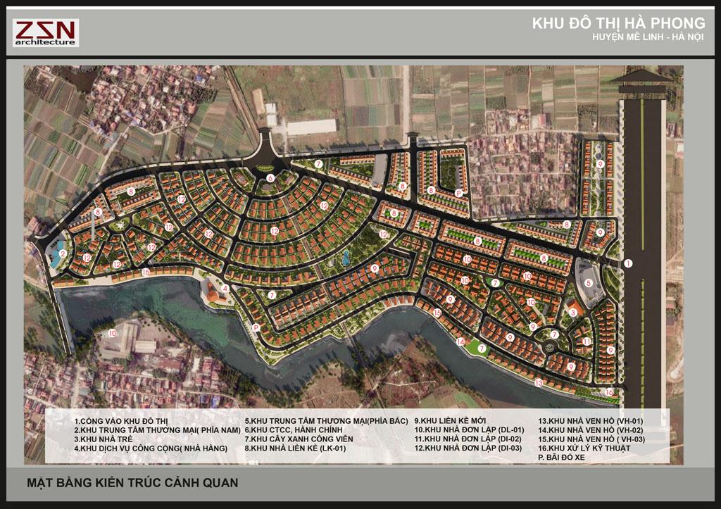 Mặt bằng Dự án Khu đô thị Hà Phong