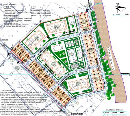 Mặt bằng Dự án Khu đô thị Kim Hoa Mê Linh