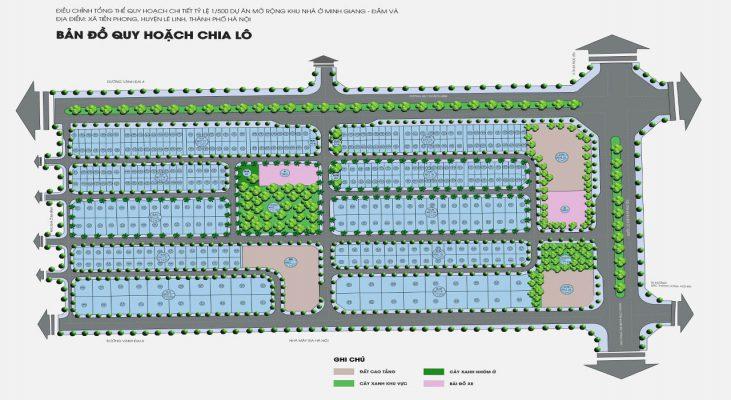 Mặt bằng Dự án Khu đô thị Mê Linh New City