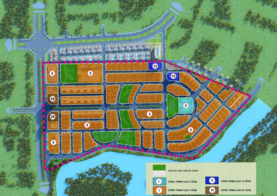 Mặt bằng Dự án Khu đô thị Minh Giang Đầm Và 1 Mê Linh