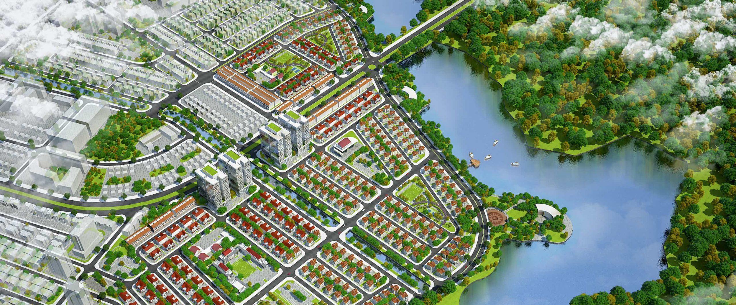 Mặt bằng - Quy hoạch Dự án Khu đô thị Làng Hoa Tiền Phong Mê Linh