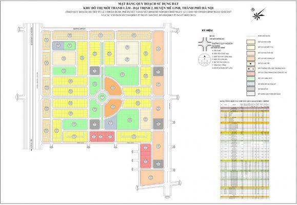 Mặt bằng Dự án Khu đô thị HUD Mê Linh Central - Thanh Lâm - Đại Thịnh 2