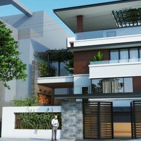 Mô hình Biệt thự Dự án Kim Hoa Mê Linh