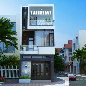 Mô hình Liền kề 3 tầng Dự án Kim Hoa Mê Linh