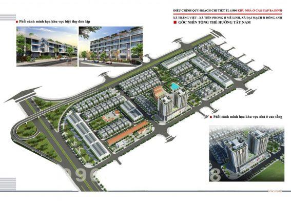 Phối cảnh tổng thể Dự án Khu đô thị Ba Đình Mê Linh