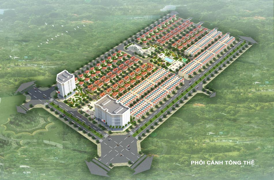 Phối cảnh tổng thể Dự án Khu đô thị Mê Linh New City