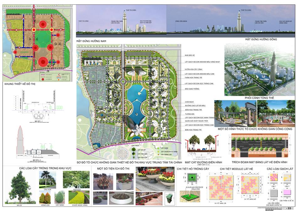 Quy hoạch cảnh quan - cây xanh Dự án Minh Giang Đầm Và 1 Mê Linh
