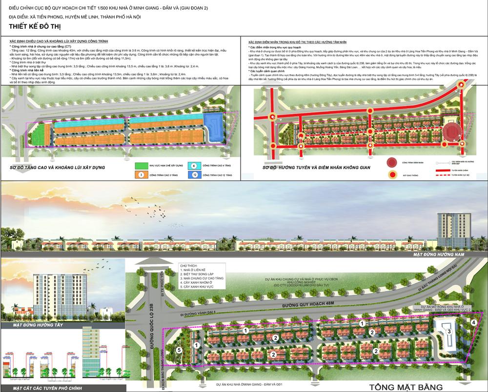 Mặt bằng - Quy hoạch - Thiết kế Dự án Minh Giang Đầm Và 2 Mê Linh - Khu 1