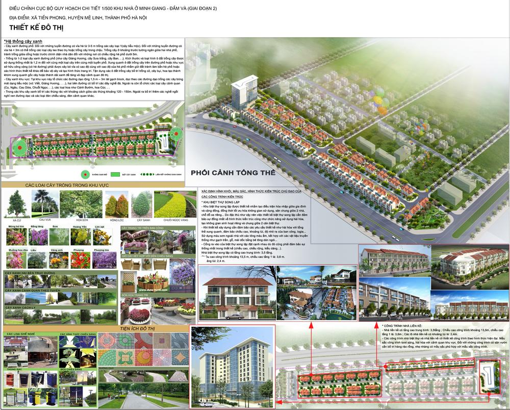 Mặt bằng - Quy hoạch - Thiết kế Dự án Minh Giang Đầm Và 2 Mê Linh - Khu 2
