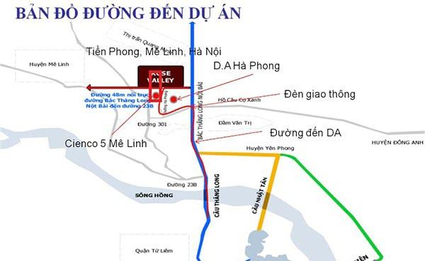 Vị trí Dự án Cienco5 Mê Linh