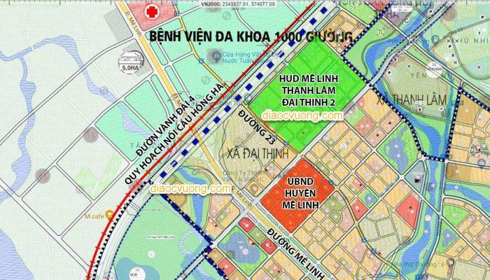 Vị trí Dự án Khu đô thị HUD Mê Linh Central - Thanh Lâm - Đại Thịnh 2