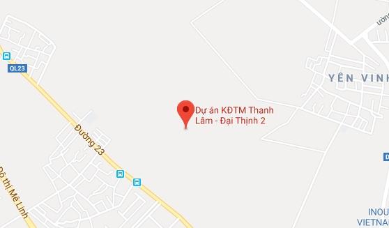 Vị trí Dự án Khu đô thị Mê Linh - Đại Thịnh