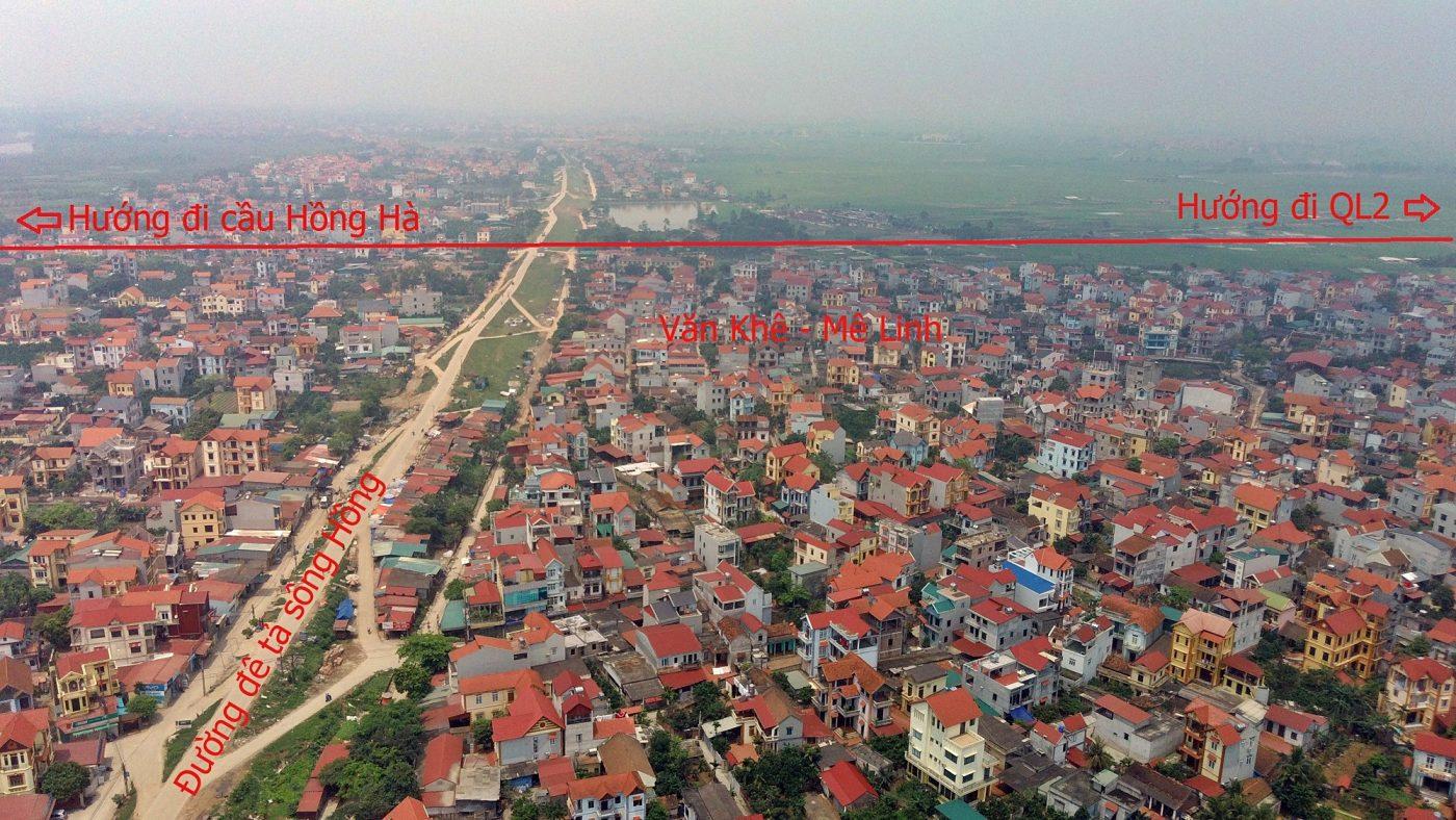 Từ địa bàn huyện Mê Linh, đường Vành đai 4 sẽ hưởng về Trục chính đô thị Mê Linh, QL23, QL2.