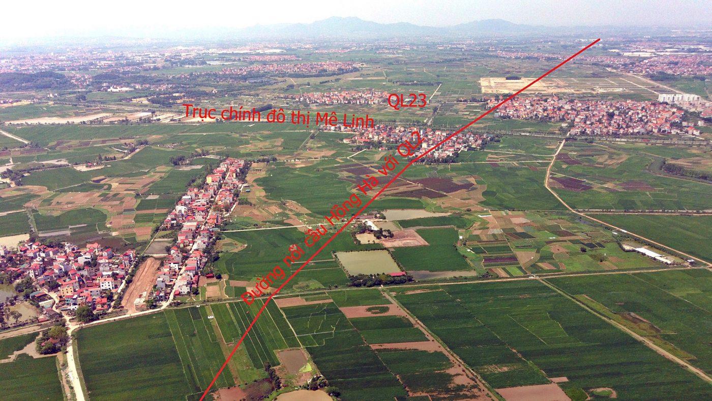Đường Vành đai 4 qua địa bàn huyện Mê Linh gần với UBND huyện này.