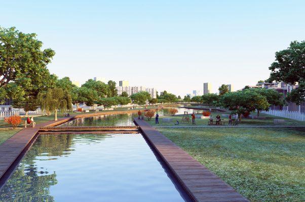 Hồ nước điều hòa Khu Đô Thị Kim Đô City Yên Phong Bắc Ninh