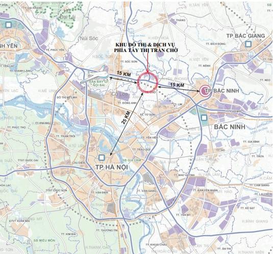 Liên kết vùng Dự Án Khu Đô Thị Kim Đô City Yên Phong Bắc Ninh