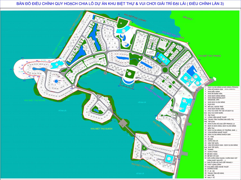 Mặt bằng Dự án Paradise Đại Lải Resort Phúc Yên