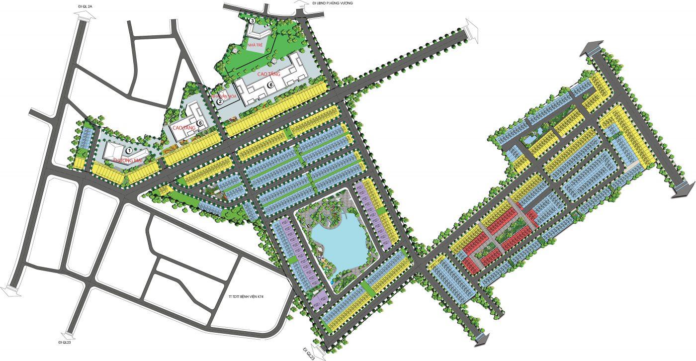 Mặt bằng phân lô Dự án Khu đô thị TMS Grand City Phúc Yên