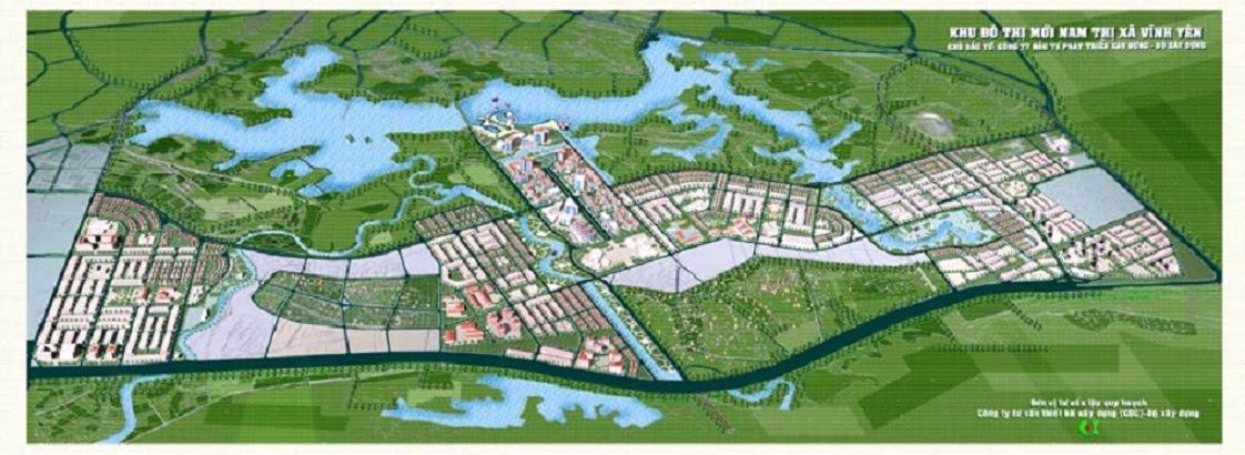 Mặt bằng tổng thể Dự án Khu đô thị Nam Vĩnh Yên