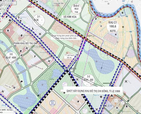 Quy hoạch phân khu N3 Mê Linh Hà Nội, tỷ lệ 1/5000