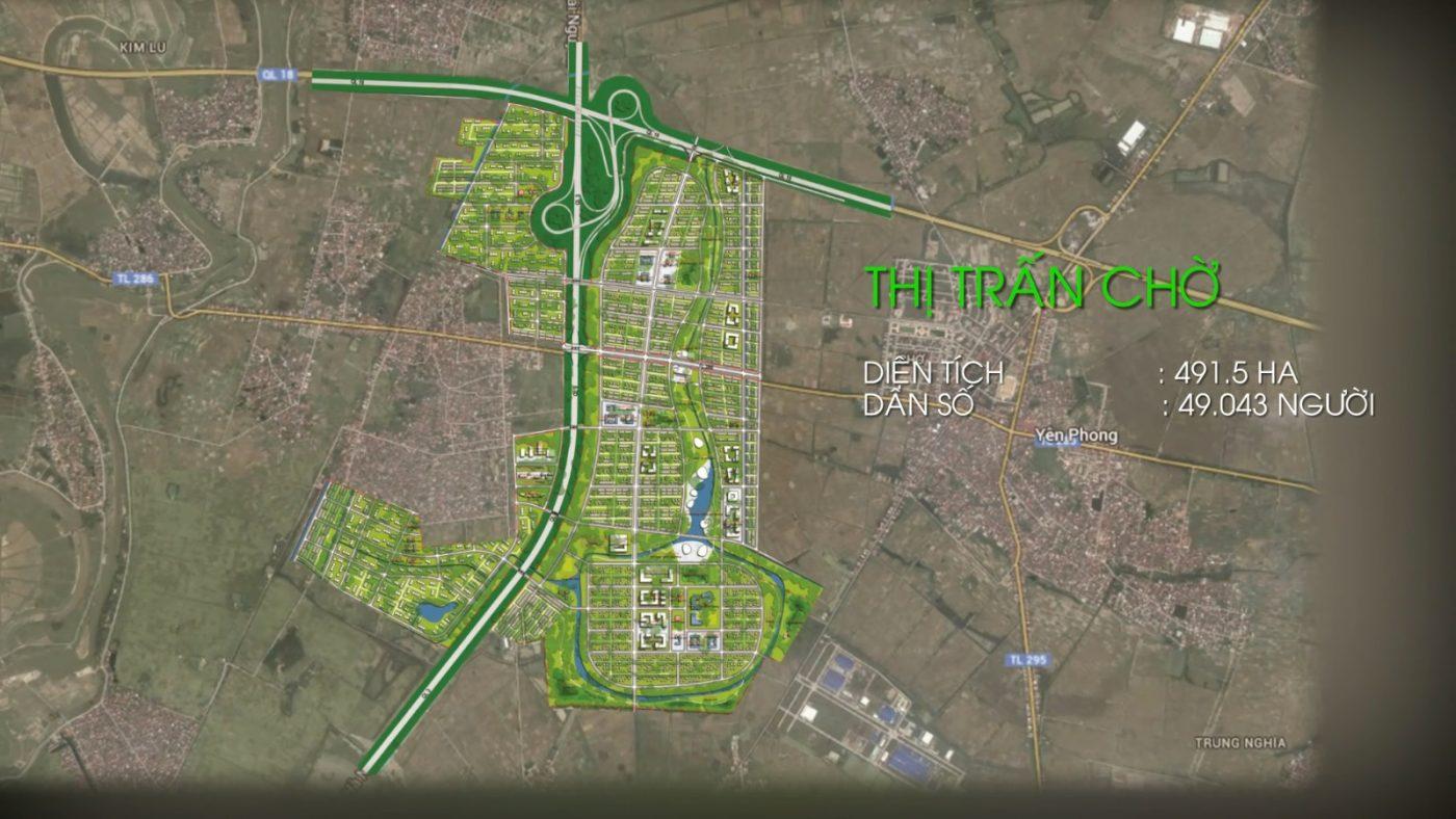 Vị trí Dự Án Khu Đô Thị Kim Đô City Yên Phong Bắc Ninh