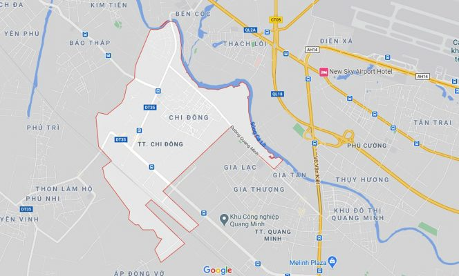 Ba đường sẽ mở theo quy hoạch ở thị trấn Chi Đông, Mê Linh, Hà Nội