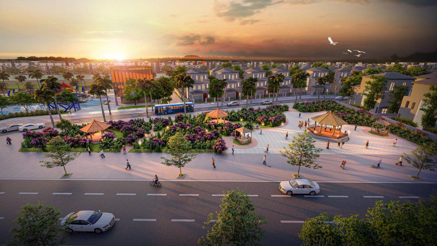 Phối cảnh Dự án Khu đô thị Thanh Sơn Riverside Garden Phú Thọ