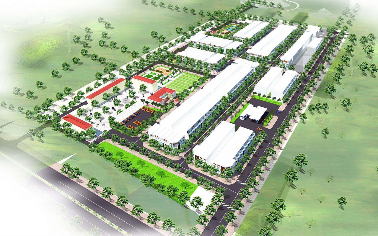 Phối cảnh Dự án Khu đô thị Nam Hồng New City Bắc Giang