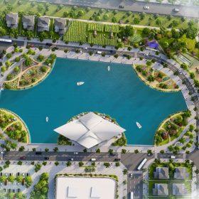 Hồ điều hòa trung tâm Dự án Khu đô thị Thanh Sơn Riverside Garden Phú Thọ