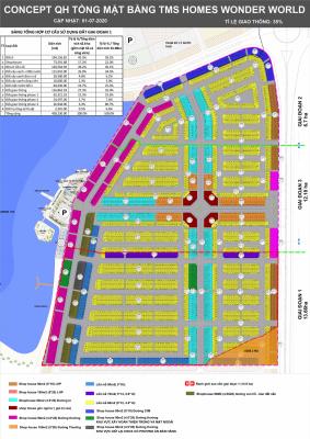Mặt bằng Quy hoạch tổng thể Dự án TMS Homes Wonder World Vĩnh Yên