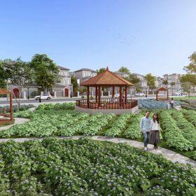 Khu đi bộ Dự án Khu đô thị Thanh Sơn Riverside Garden Phú Thọ