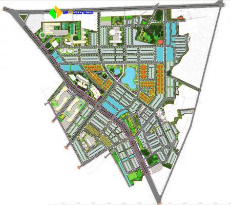 Phối cảnh Dự án Khu đô thị Hùng Vương Tiền Châu Phúc Yên