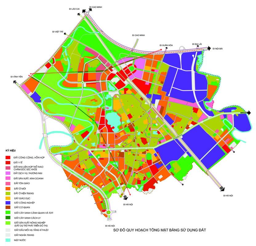 Quy hoạch tổng mặt bằng sử dụng đất