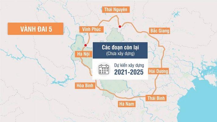 Quy hoạch chi tiết đường Vành đai 5 Hà Nội đi qua 8 tỉnh, thành phố