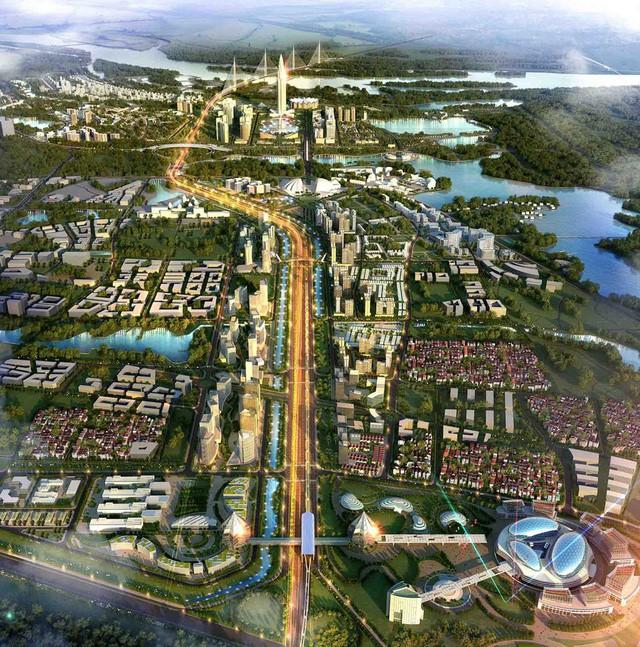 Hạ tầng sẽ được đầu tư đồng bộ, xương sống chính là tuyến đường cao tốc kết nối từ sân bay về trung tâm thành phố, đầu Rồng quay về sông Hồng – Hồ Tây.
