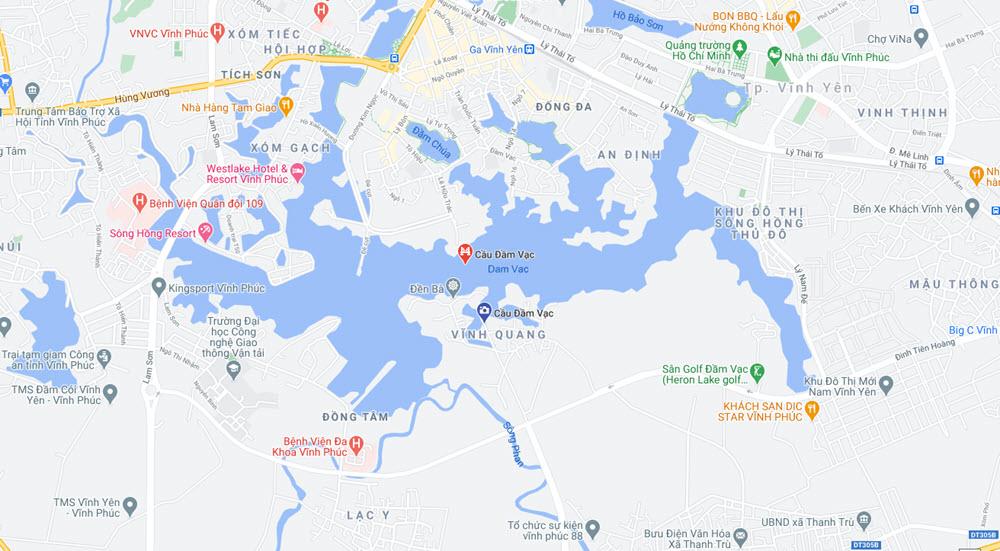 Quy hoạch vị trí xây dựng Cầu Đầm Vạc - Vĩnh Yên