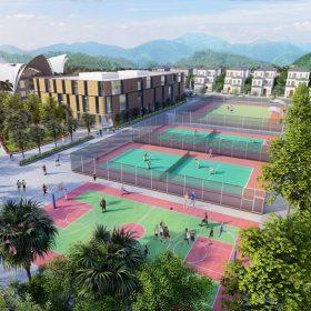 Sân chơi thể thao Dự án Khu đô thị Thanh Sơn Riverside Garden Phú Thọ