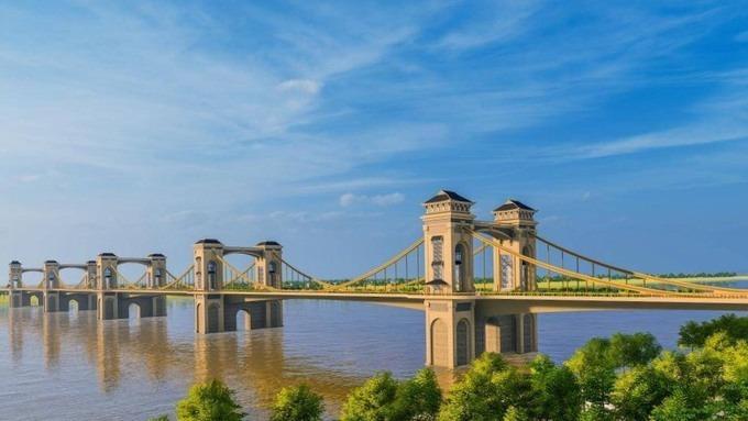 Thiết kế cầu Trần Hưng Đạo qua sông Hồng đang được đơn vị tư vấn nghiên cứu