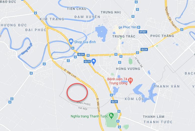 Vị trí Dự án Khu đô thị Cienco5 Tiền Châu Phúc Yên