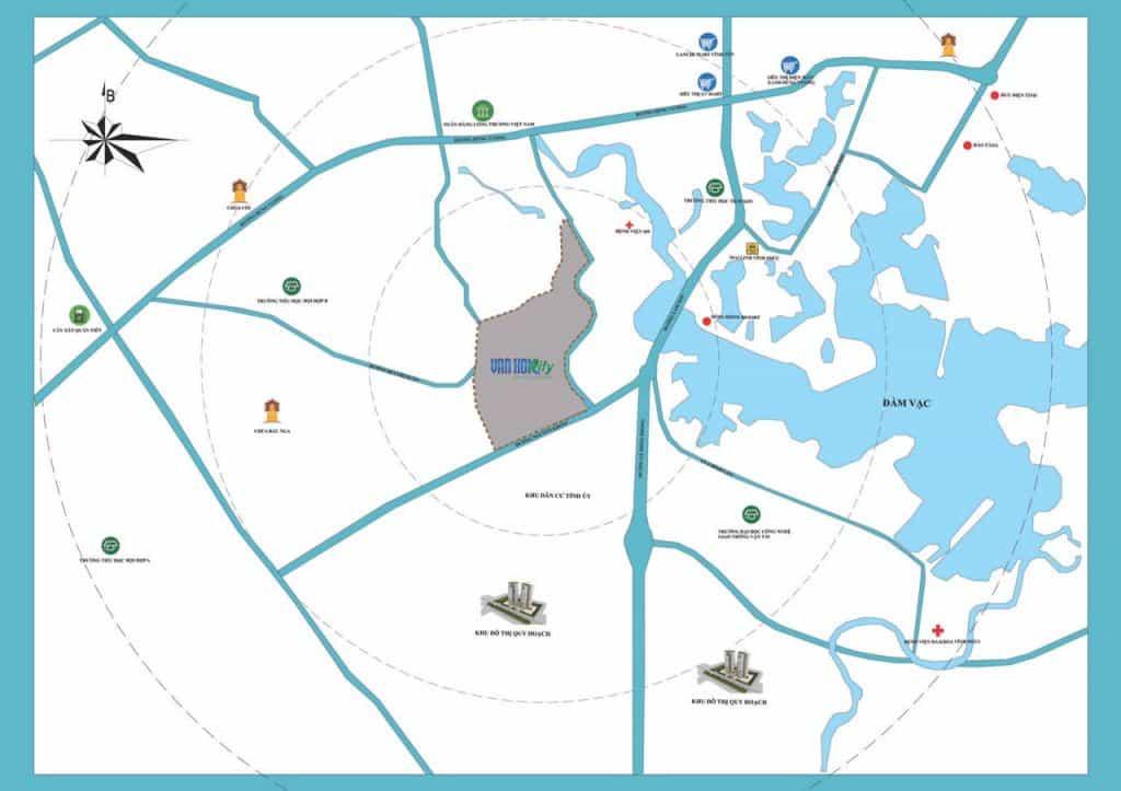 Vị trí Dự án Khu đô thị Vĩnh Yên Center City