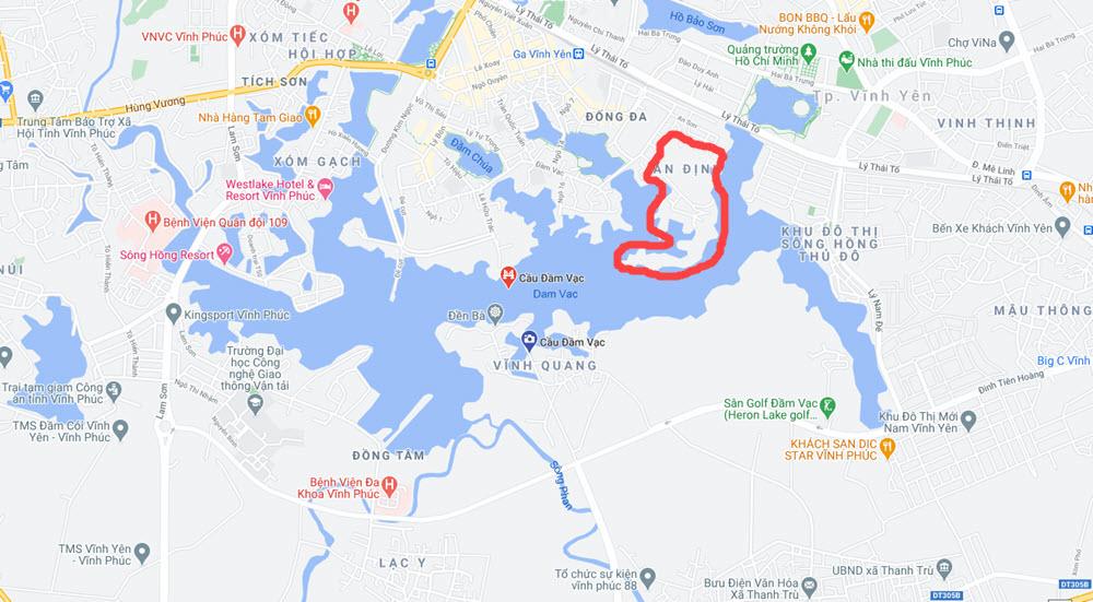 Vị trí Dự án Khu đô thị Bắc Đầm Vạc Vĩnh Yên
