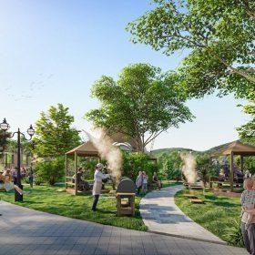 Vườn nướng BBQ Dự án Khu đô thị Thanh Sơn Riverside Garden Phú Thọ