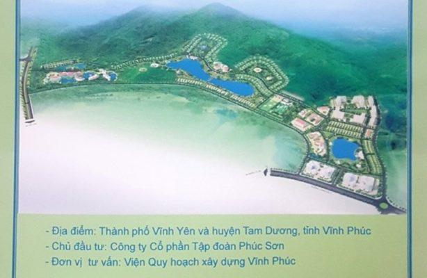 Phối cảnh Dự án Khu đô thị Phúc Sơn Luxury Villas Vĩnh Yên
