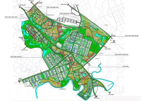 Bản đồ quy hoạch kiến trúc cảnh quan Quy hoạch phân khu C1 tỷ lệ 1/2000 phát triển công nghiệp và đô thị phụ trợ khu vực hai bên Quốc lộ 2 tại huyện Bình Xuyên, tỉnh Vĩnh Phúc