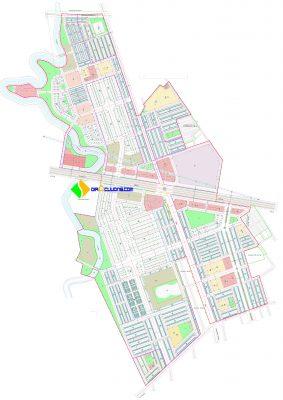 Mặt bằng Dự án Khu chợ đầu mối Thổ Tang, Khu đô thị thương mại Vĩnh Tường Vĩnh Phúc