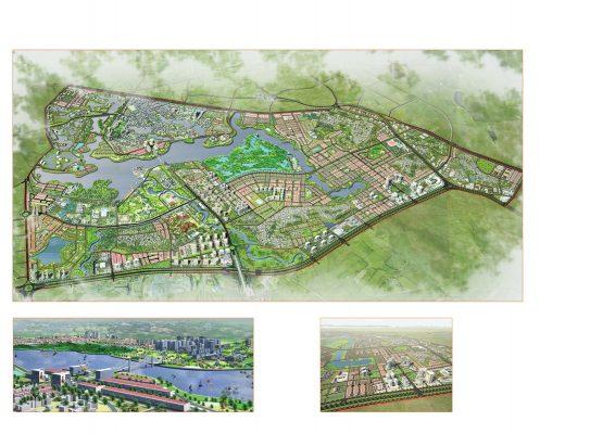 Phối cảnh tổng thể Quy hoạch phân khu A4 tỷ lệ 1/2000 phát triển khu đô thị trung tâm tại thành phố Vĩnh Yên và một phần đất đai huyện Bình Xuyên, huyện Yên Lạc, tỉnh Vĩnh Phúc