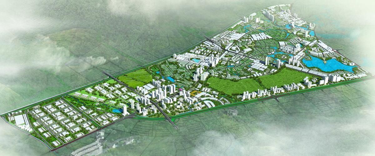 Phối cảnh tổng thể Quy hoạch phân khu A3 tỷ lệ 1/2000 phát triển đô thị dịch vụ khu vực 2 bên đường QL2 tại thành phố Vĩnh Yên, các huyện Vĩnh Tường, Tam Dương, Yên Lạc, tỉnh Vĩnh Phúc