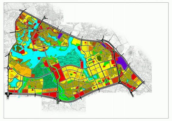 Quy hoạch tổng mặt bằng sử dụng đấtQuy hoạch phân khu A4 tỷ lệ 1/2000 phát triển khu đô thị trung tâm tại thành phố Vĩnh Yên và một phần đất đai huyện Bình Xuyên, huyện Yên Lạc, tỉnh Vĩnh Phúc