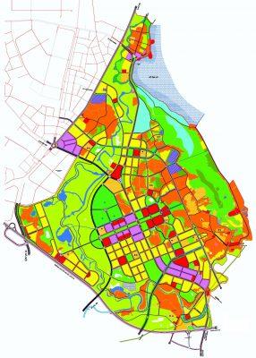 Bản đồ quy hoạch tổng mặt bằng sử dụng đất Quy hoạch phân khu C3, tỷ lệ 1/2000 phát triển đô thị, du lịch, dịch vụ khu vực phía Nam hồ Đại Lải tại huyện Bình Xuyên, thị xã Phúc Yên, tỉnh Vĩnh Phúc